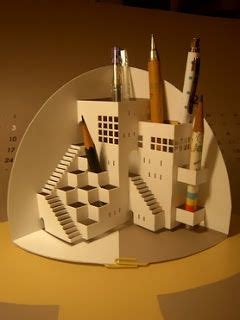 Amazing Pop Up Cards Templates Free by Origamic Architecture Pencil Holder Pop Up Card Free