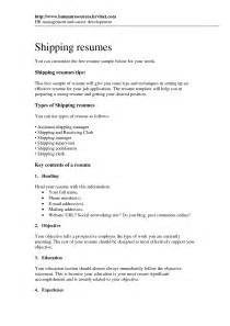 Shipping And Receiving Resume Samples and receiving resume social service resume shipping resume sample