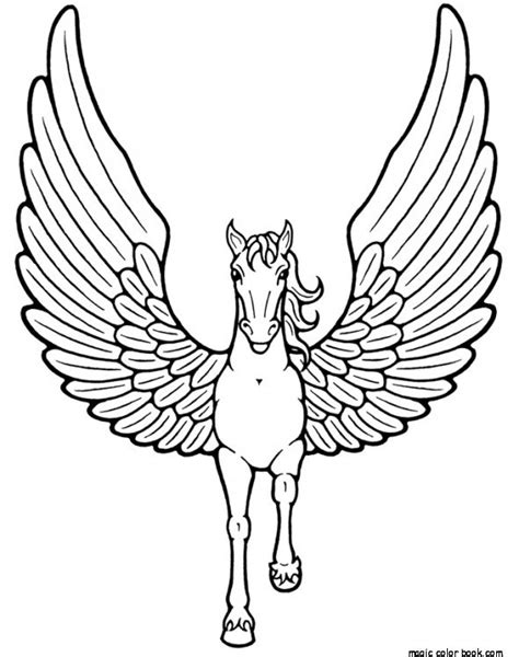 coloring pages unicorn pegasus free baby pegasus unicorn coloring pages