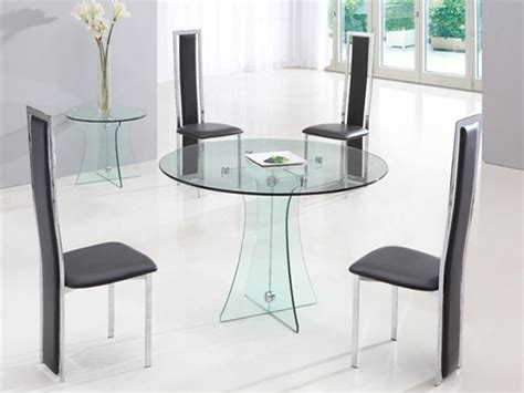 lovely glass round dining table and chairs round table