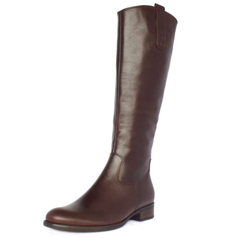 brown leather boots for gabor boots brook knee high brown leather boots