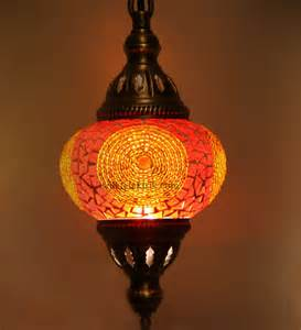 turkish lighting fixtures orange colorfull mosaic turkish pendant l 12cm