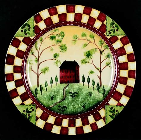 country dinner plates thomson pottery country home dinner plate s3652910g2 ebay
