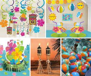 themed decorations luau ideas summer ideas at birthday in a box
