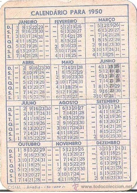 Calendario De 1950 Calendario De Bolsillo A 241 O 1950 Portugu 233 S Comprar