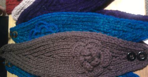 m1b knitting katiedid crafts knit flower headband
