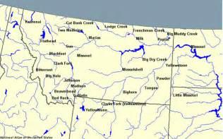 Montana Rivers Map pics photos montana rivers map