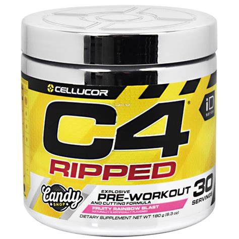 Pre Workout Cellucor C4 Ripped Preworkout Pre Wo 30 Serving cellucor id series c4 ripped fruity rainbow blast run lift move