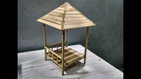cara membuat kerajinan miniatur tutuorial kerajinan tangan cara membuat miniatur gazebo