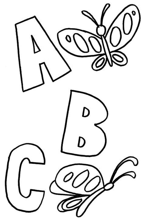 Coloring Pages Abc Coloring Pages For Kindergarten Day Of Preschool Color Sheets