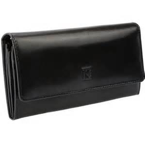 portefeuille porte monnaie femme cuir italien noir