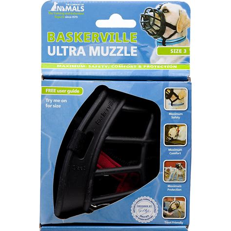muzzle petco the company of animals baskerville ultra muzzle for dogs 3 black pet supplies
