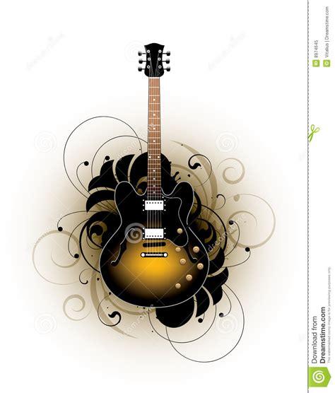 disegno della chitarra acustica fotografia stock libera da