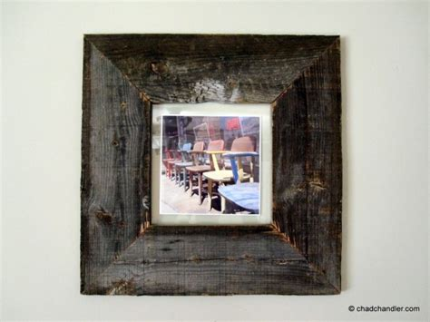 diy barn wood picture frames chad chandler