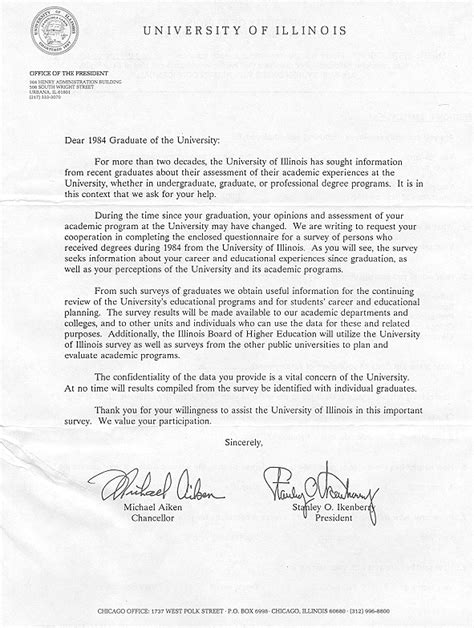Motivation Letter Undergraduate Of Illinois Gt Office For Planning