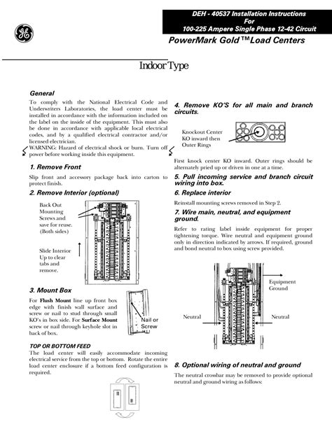 ge load center wiring diagram efcaviation