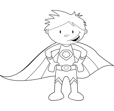 superhero outline coloring page childrens superhero coloring pages coloring pages for