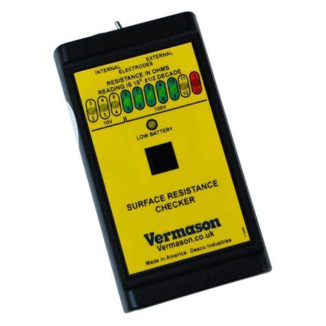 resistor checker vermason 225717 surface resistance checker