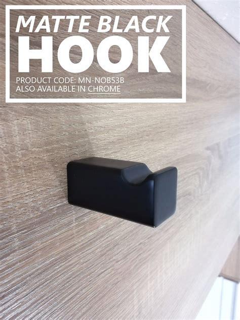 noble square matte black bathroom robe towel hook