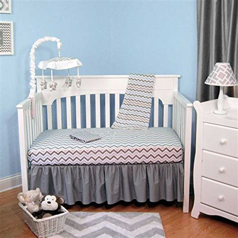 Blue Chevron Crib Bedding Blue Chevron ᗔ Baby Baby Bedding Us896