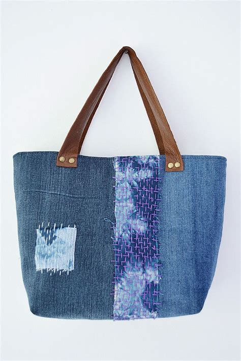 jeans tote bag pattern create your own small denim tote use up fabric scraps to
