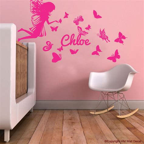 personalised  fairy butterflies kids removable wall