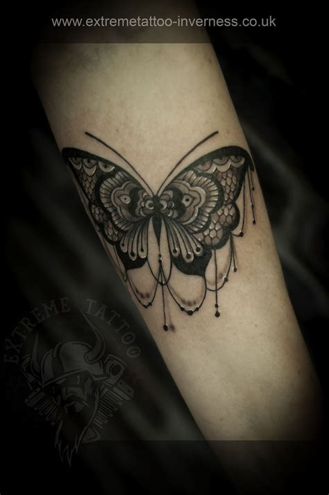 extreme tattoo piercing inverness lace tattoo butterfly tattoo gabi tomescu extreme
