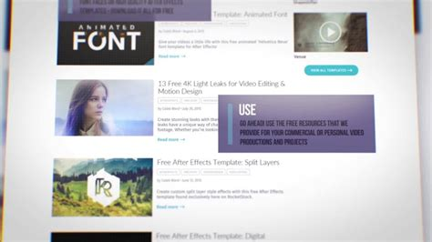 templates after effects promo header website promo after effects template