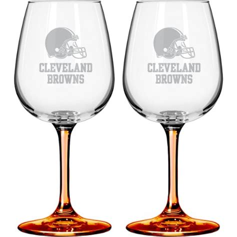 Cleveland Wine Glasses Cleveland Browns Wine Glass Browns Wine Glass Browns