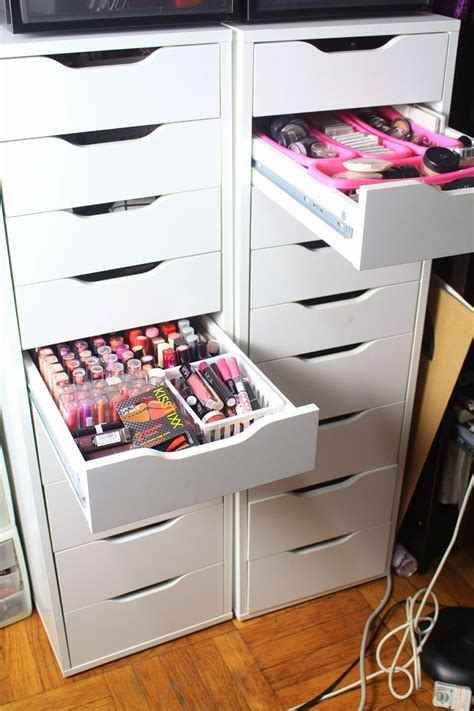 ikea makeup storage ikea alex makeup storage organization nazarm com