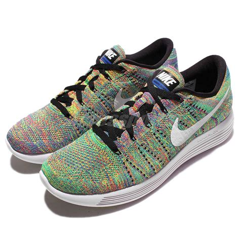 multi colored nike shoes nike lunarepic low flyknit multi color rainbow mens