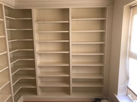 floor to ceiling bookcase with desk floor to ceiling bookcase shelving finally installed
