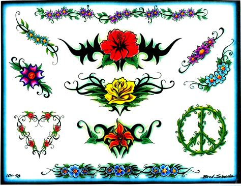 designs tattoos for free flower tattoos