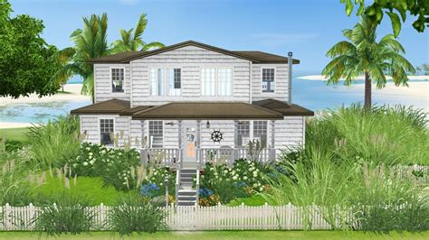 House Blueprints Free sea shore beach cottage tiki s sims 3 corner