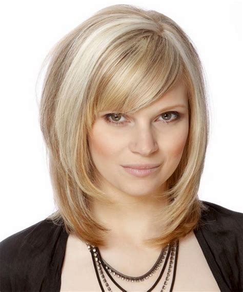 medium haircut with bangs layered medium hairstyles with bangs
