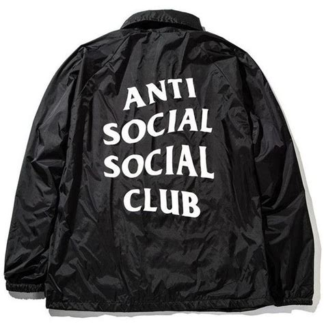 Assc Coach Jacket by Anti Social Social Club Assc Coaches Windbreaker Light