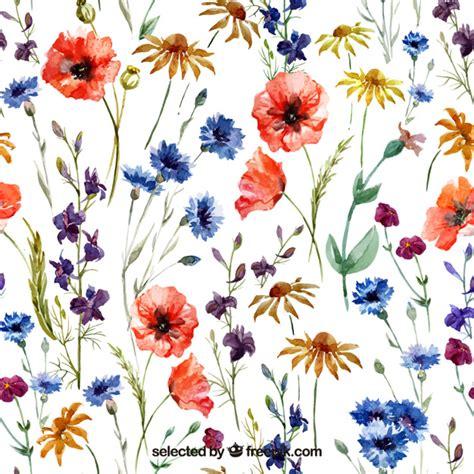 variet 224 di fiori ad acquerello scaricare vettori gratis