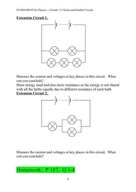 resistors in series and parallel conclusion 3 3 series and parallel circuits notes