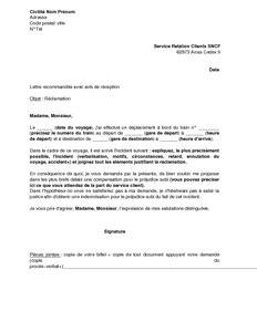 Free Lettre De Réclamation Lettre De R 233 Clamation Au Service Client De La Sncf Mod 232 Le De Lettre Gratuit Exemple De Lettre