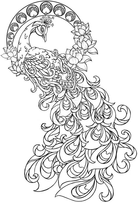 pattern watercoloring book for adults paisley peacock coloring pages for adults printable