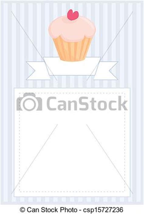 cupcake menu card template vectors of vector cupcake document template vector