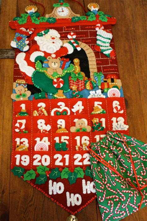 Handmade Advent Calendars - handmade bucilla felt advent calendar free shipping