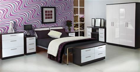 White Gloss And Wood Bedroom Furniture by Knightbridge Bedroom Furniture Assembled Bedroom Range