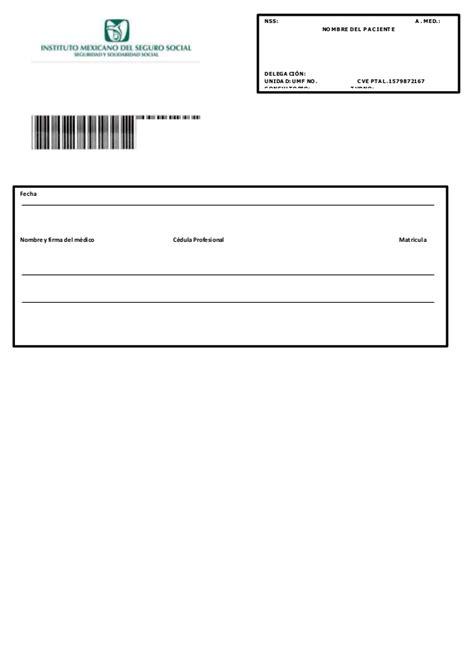 descargar receta medica del imss formato editable zonambuloz descargar formato editable receta imss portalprogramas