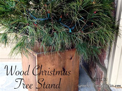 diy wood christmas tree stand spoonful of imagination