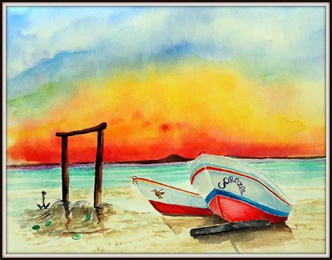 fishing boat for sale belize fishing boats corozal belize painting by paul sandilands