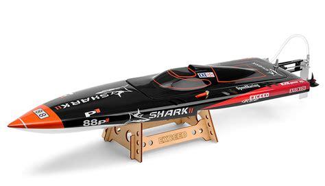 nitrorcx boats exceed rc electric powered fiberglass shark ii mono 1