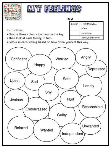 Feelings Worksheet by Pictures Feeling Worksheets Getadating