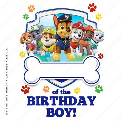 Paw Patrol Editable Pdf Of The Birthday Boy Design Instant Download Paw Patrol Birthday Paw Patrol Birthday Shirt Template