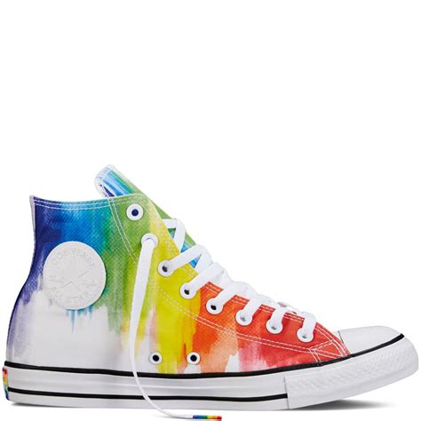 rainbow tie dye high tops from converse s pride collection